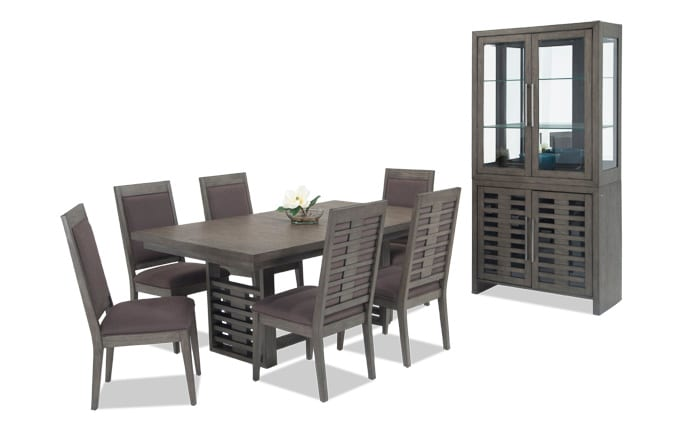 Essex 8 Piece Dining Set with Curio