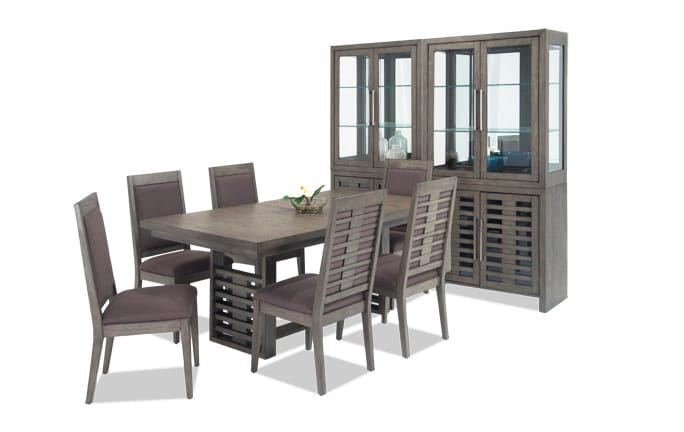 Essex 9 Piece Dining Set with 2 Curios