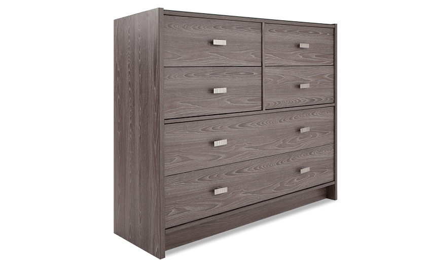 Child Craft Soho  Drawer Double Dresser In White Natural