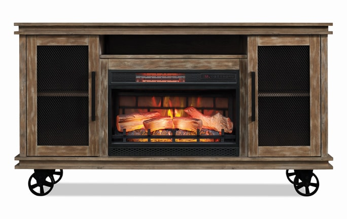 furniture hearth living set room fireplace discount bobs review decor electric piece
