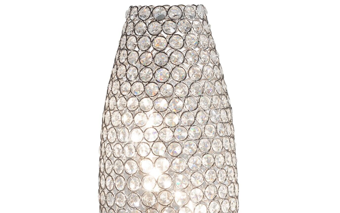 Shimmer Cylinder Crystal Lamp