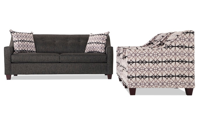 Caleb Sofa & 2 Accent Chairs