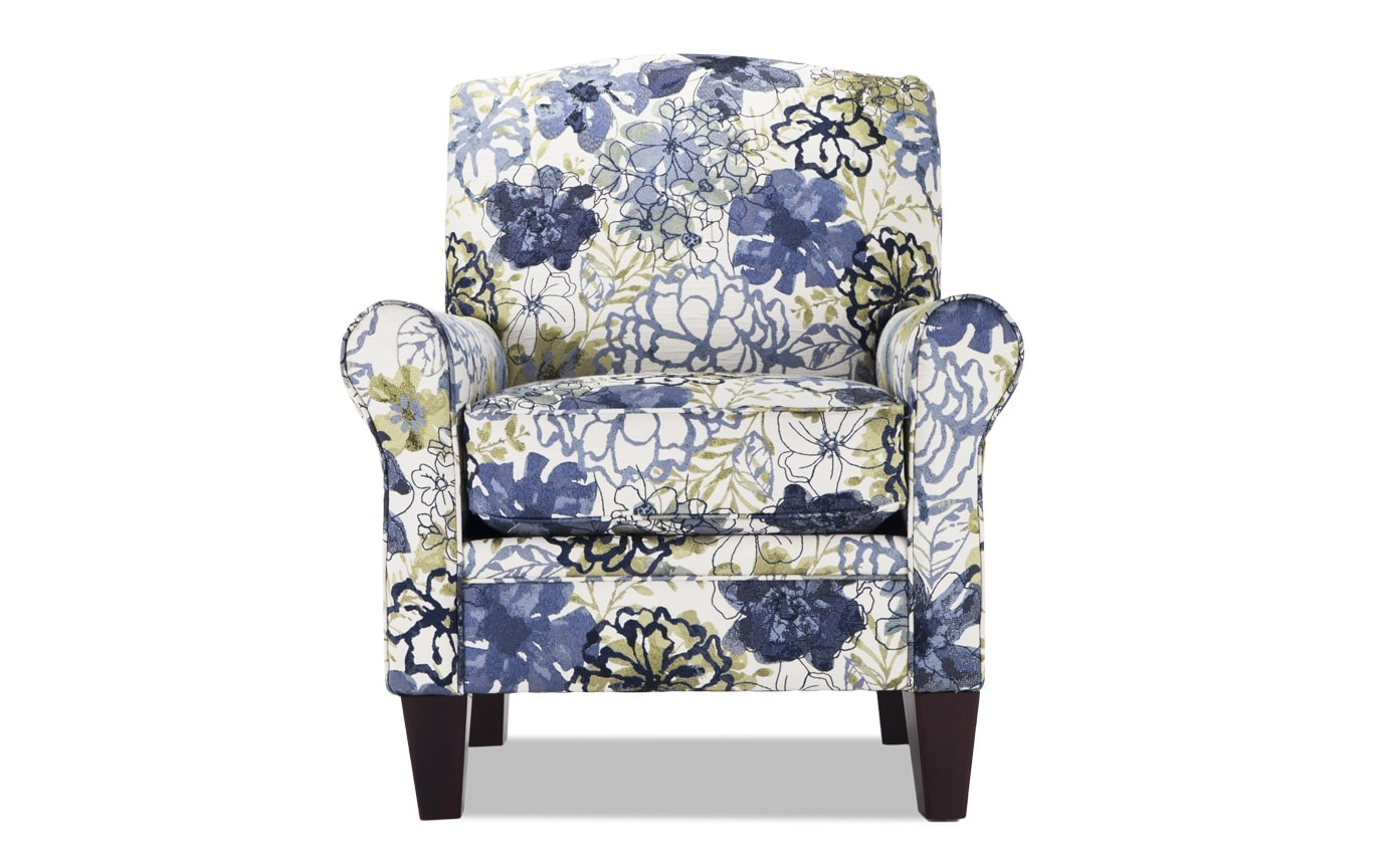 Modern Floral Accent Chair Creative
