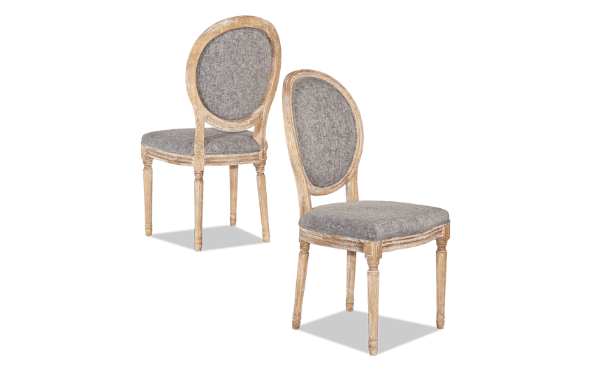 Set of 2 Berkshire Charcoal Oval Back Chairs
