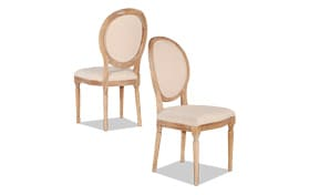Set of 2 Berkshire Natural Oval Back Chairs