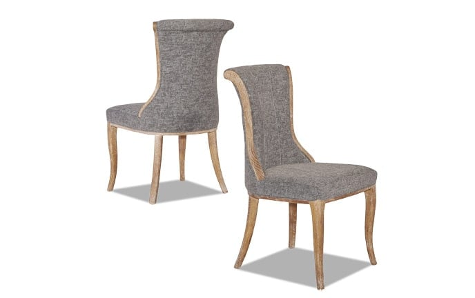 Set of 2 Portland Flared Back Chairs