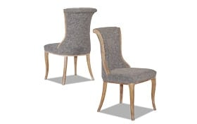 Set of 2 Portland Charcoal Flared Back Chairs