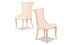 Set of 2 Portland Natural Flared Back Chairs