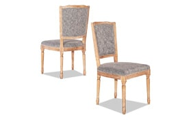 Set of 2 Cheshire Square Back Chairs