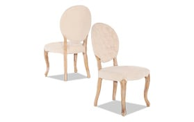 Set of 2 Glastonbury Oval Back Chairs