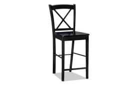 X Back Black Stool