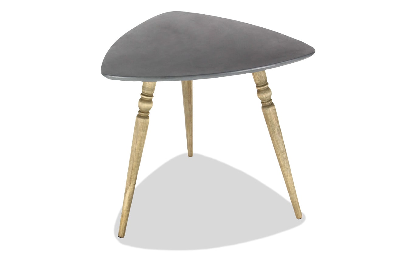 Triangle Shaped Wood Accent Table