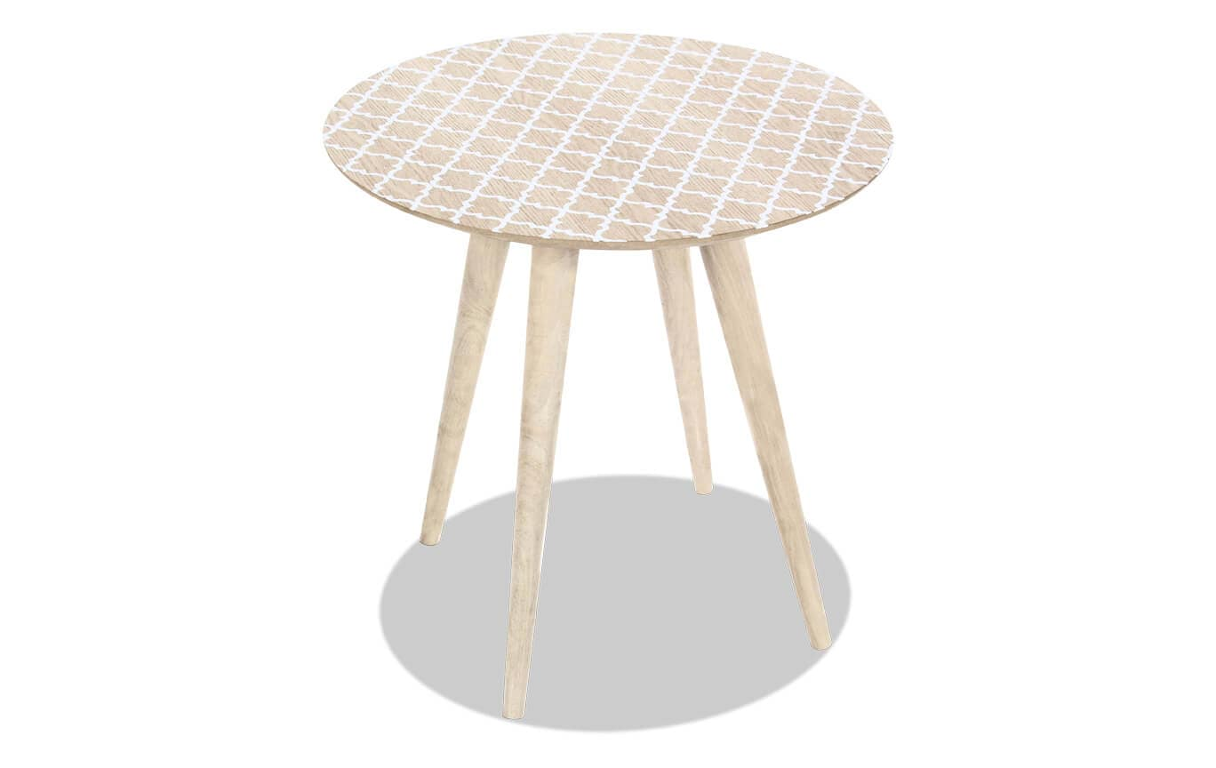 Modern Wood Lattice Accent Table