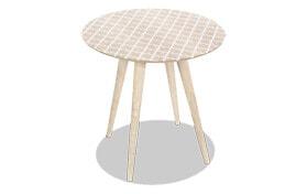 Modern Wood Lattice Accent Table
