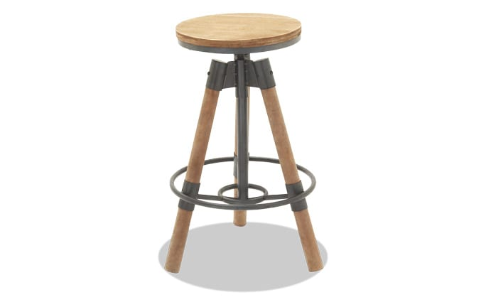 Rustic Iron Adjustable Bar Stool