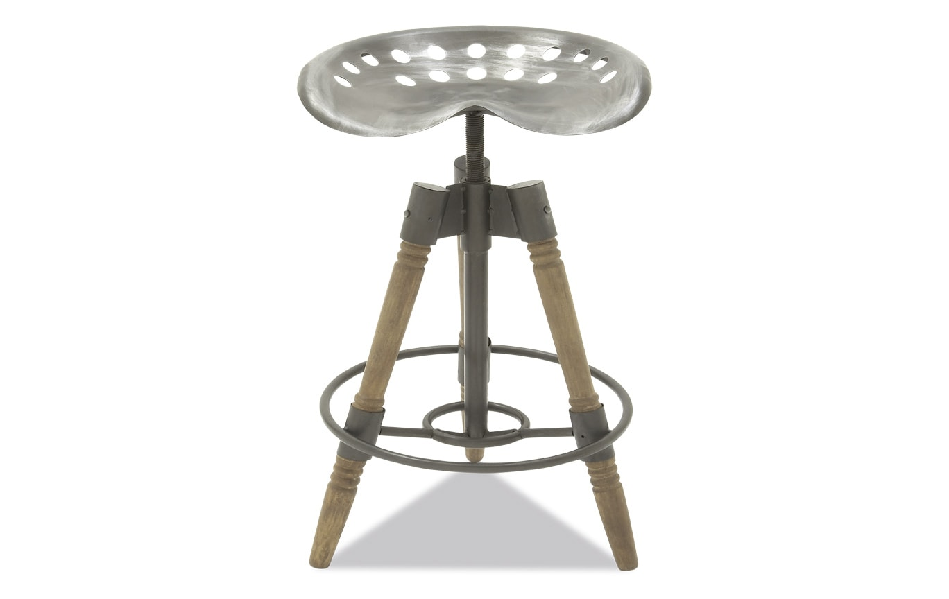 Metal & Wood Rustic Bar Stool