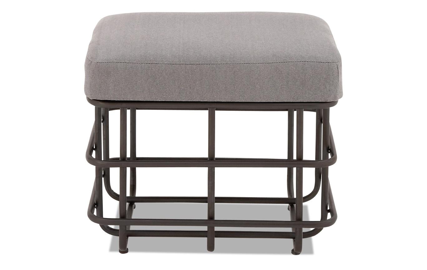 Linen & Metal Footstool