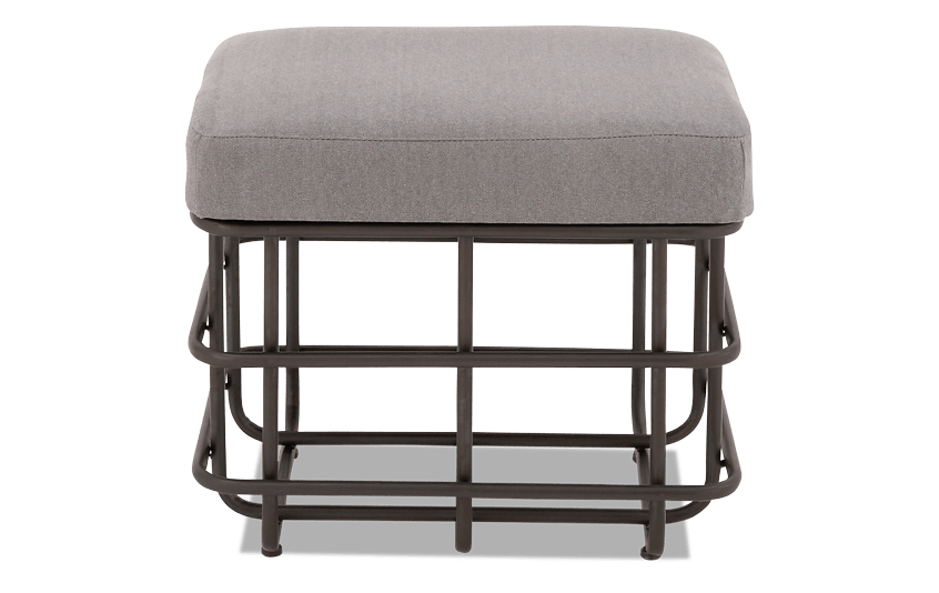Linen & Metal Foot Stool