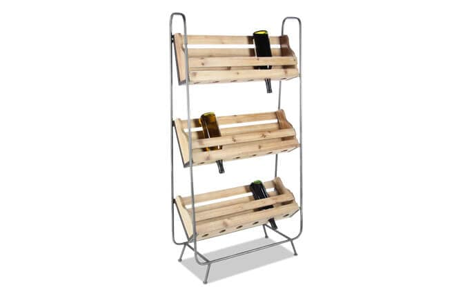 Wood & Metal Wine Rack