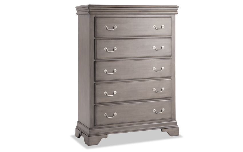 Louie Louie Gray 5 Drawer Chest