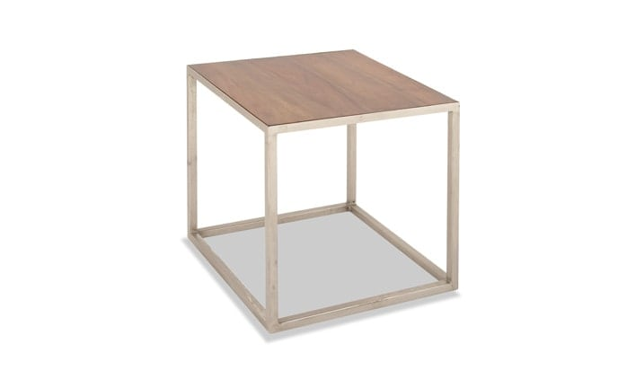 Metal & Wood Side Table