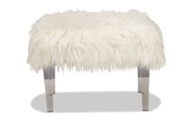 Arctic Faux Fur Stool