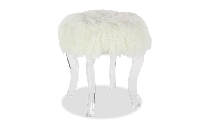 Winter Faux Fur Stool