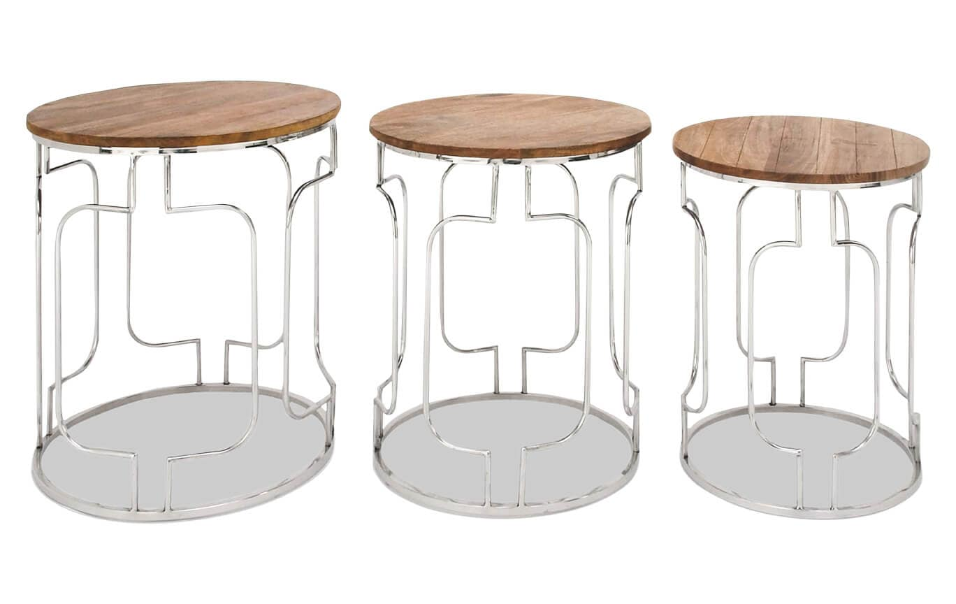 Set Of 3 Round Nesting Tables