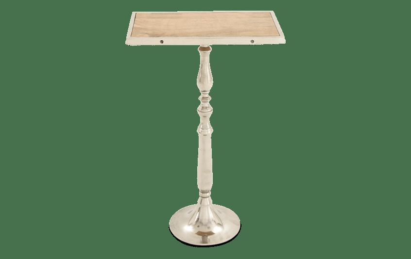 Aluminum & Wood Pedestal Table
