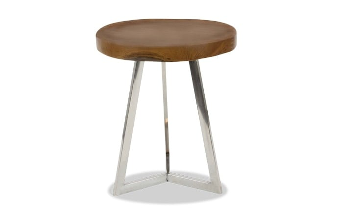 Chrome Wood Accent Table