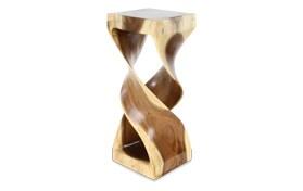 Swirl Wood Side Table