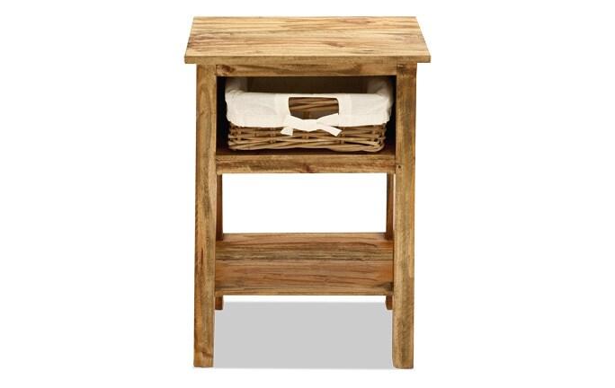 Wood Side Storage Table