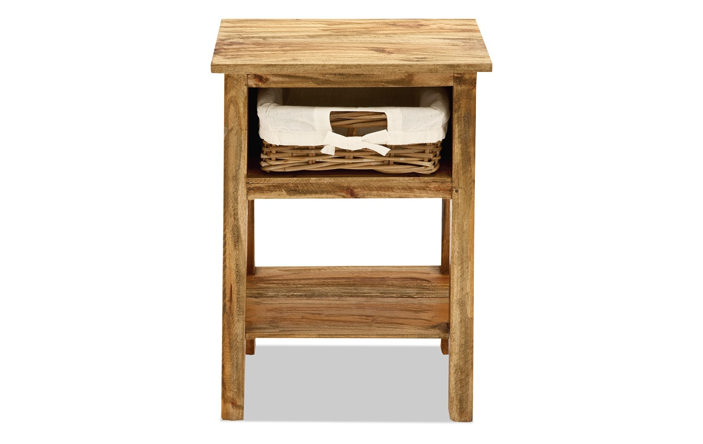 Wood Side Storage Table