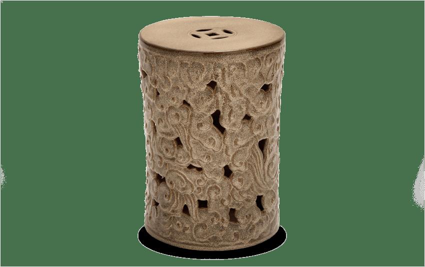 Ceramic Scroll Garden Stool