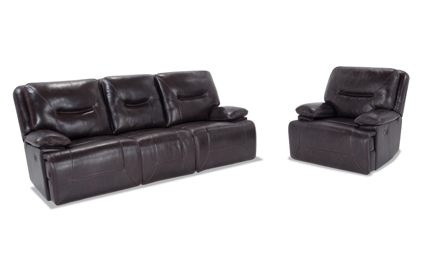 Marco Leather Power Reclining Sofa & Power Recliner