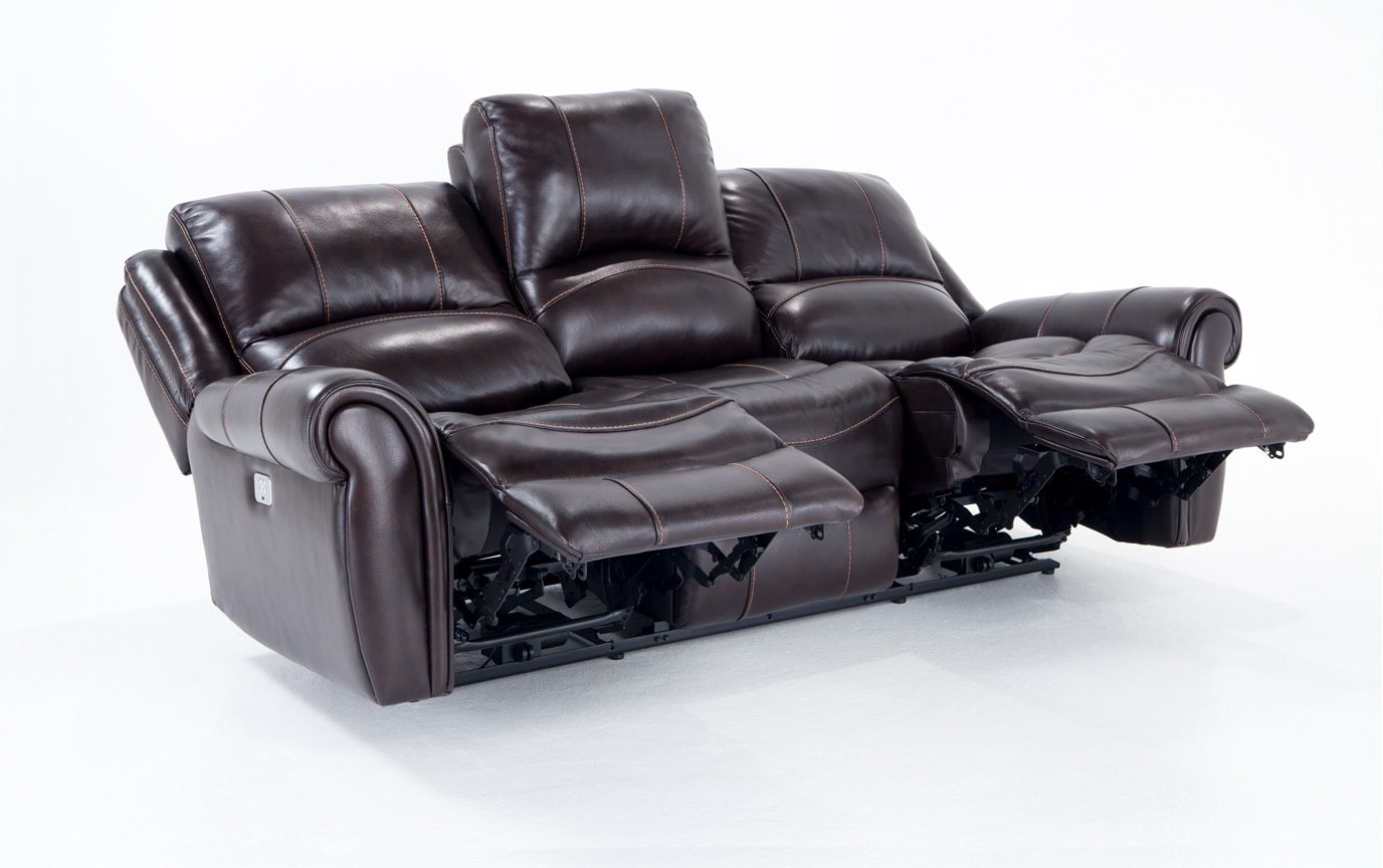 Bennett Leather Power Reclining Sofa & Power Recliner