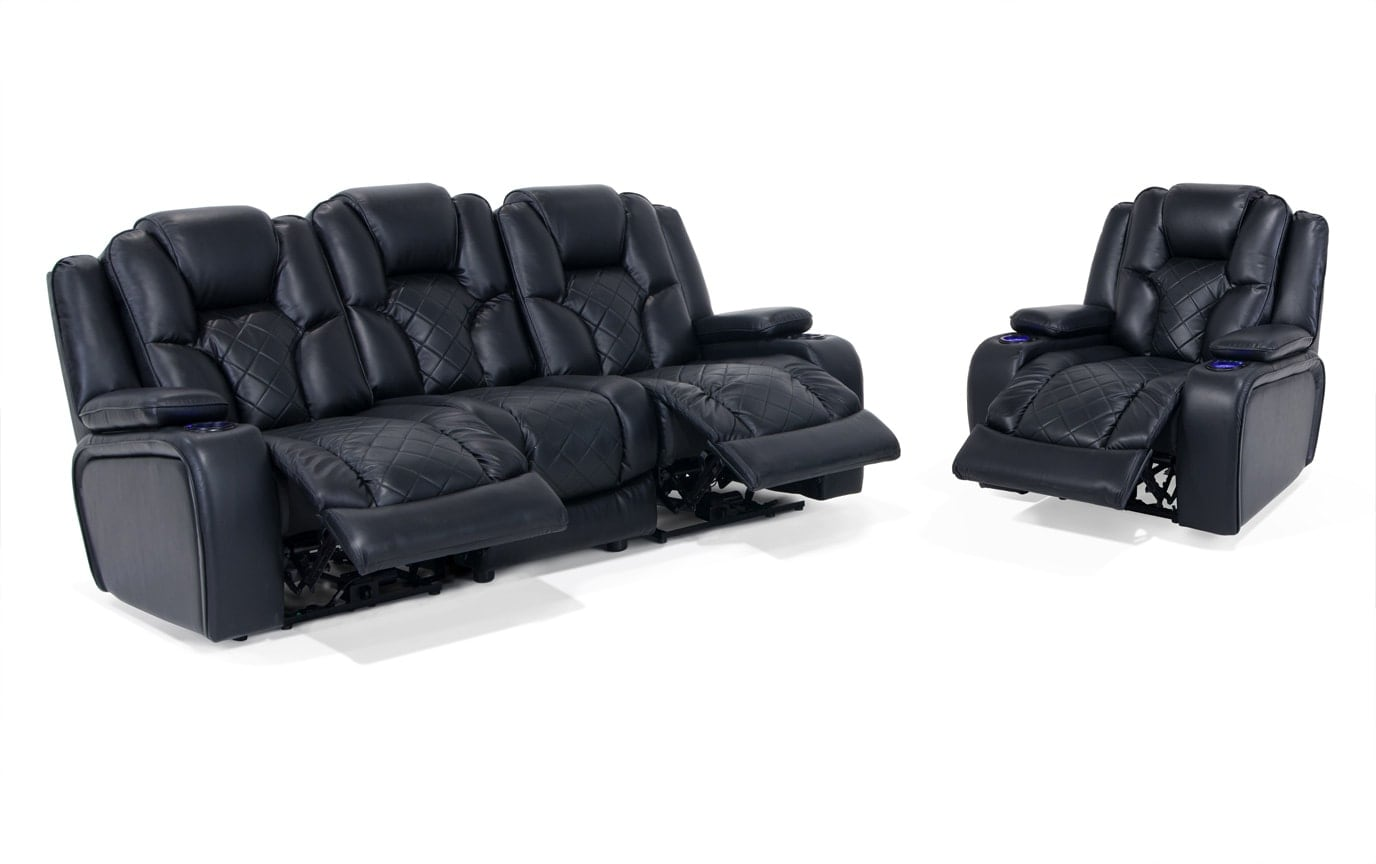 Gladiator Dual Power Reclining Sofa & Power Recliner