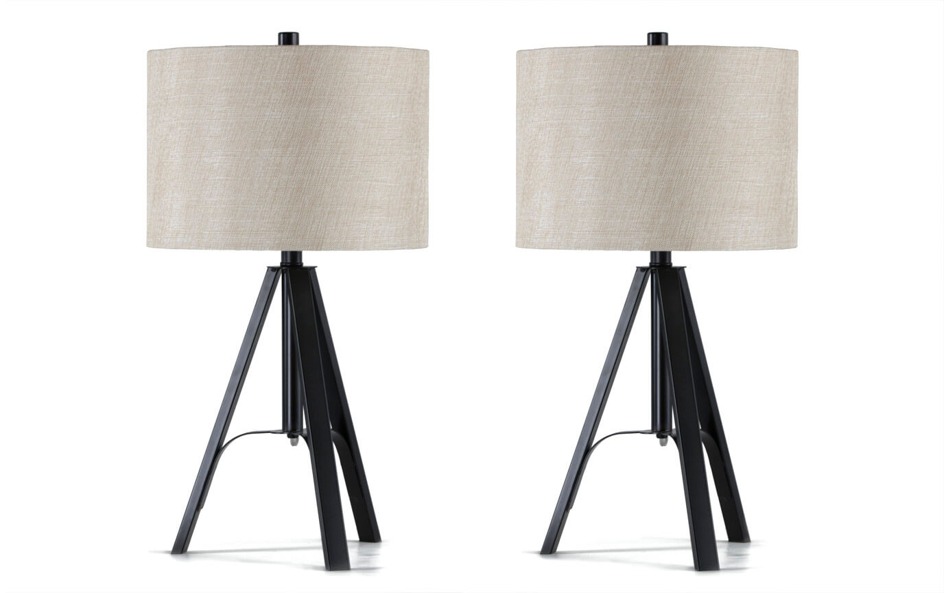 Set Of 2 Archer Tripod Table Lamps