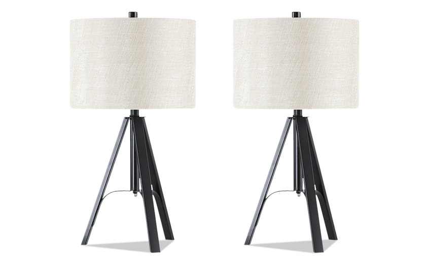 Set of 2 archer tripod table lamps bobs discount furniture set of 2 archer tripod table lamps aloadofball Images