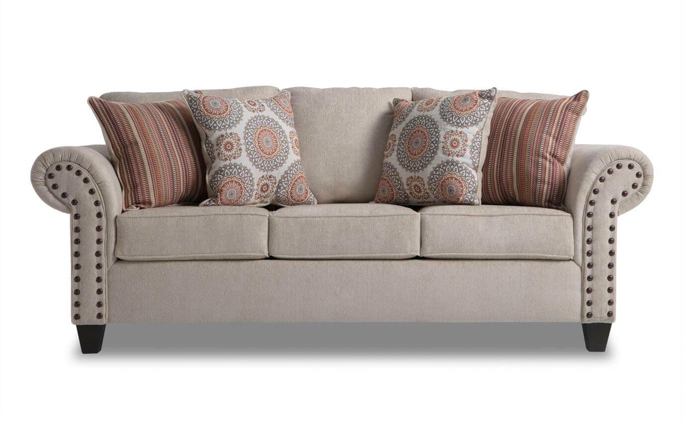 artisan beige sofa bobs com rh mybobs com bobs furniture sofa table bobs furniture sofa reviews