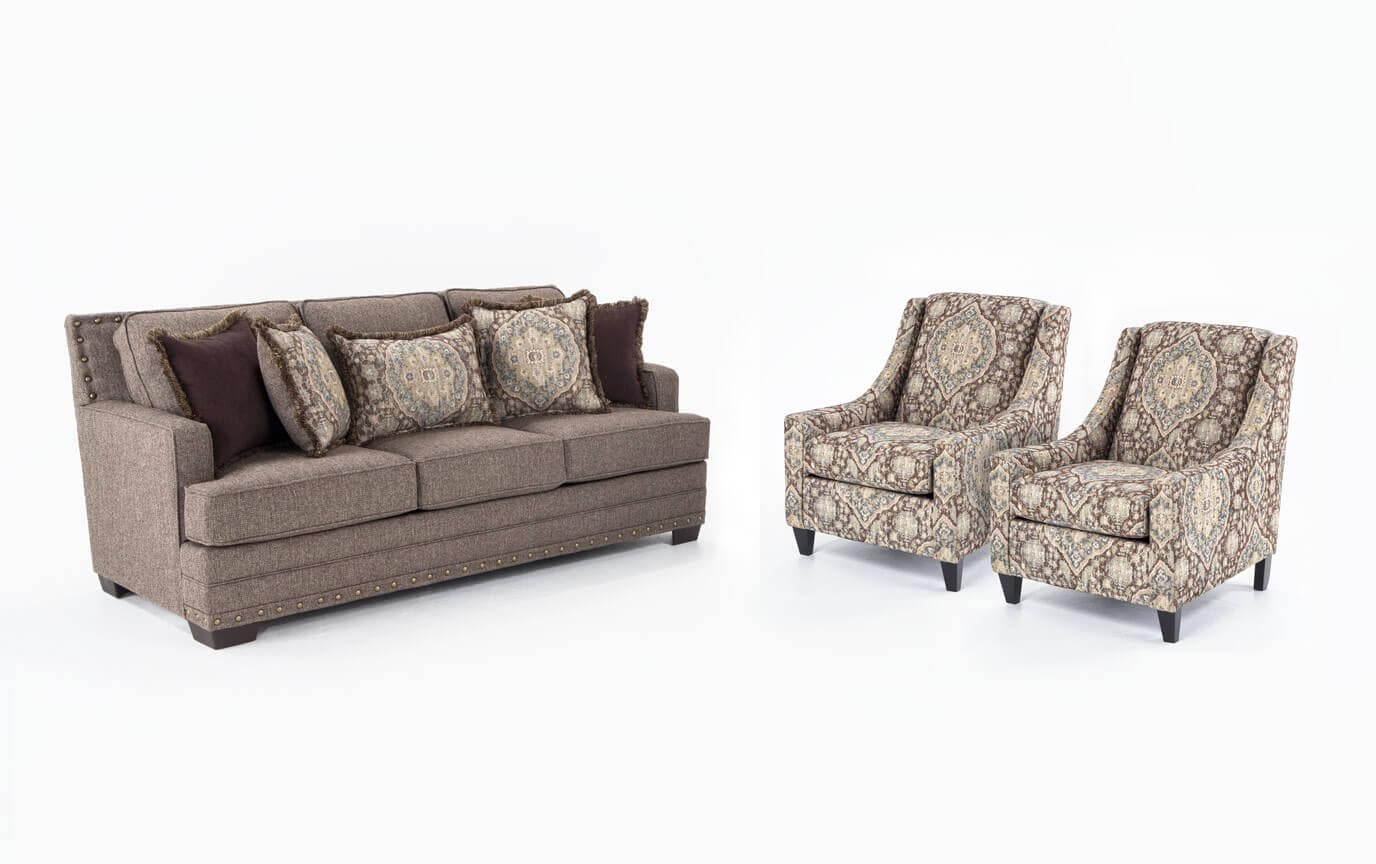 Garden City Sofa & 2 Accent Chairs