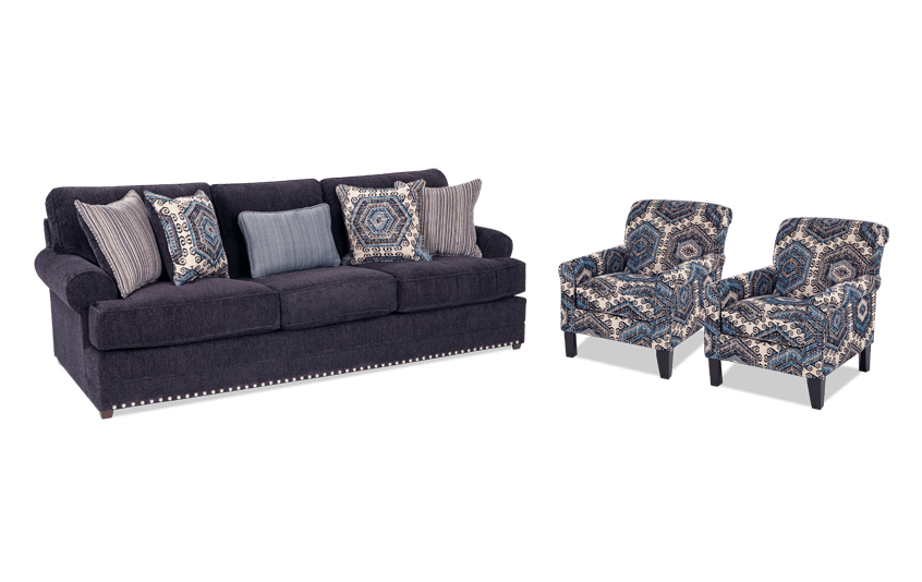 Dakota Sofa & 2 Accent Chairs