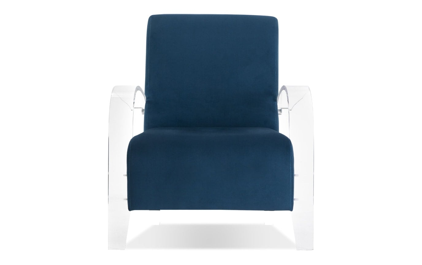 Teal Acrylic Accent Chair