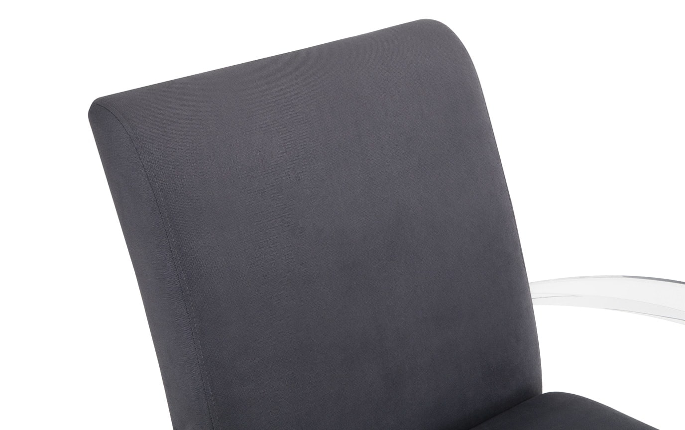 Charcoal Acrylic Accent Chair