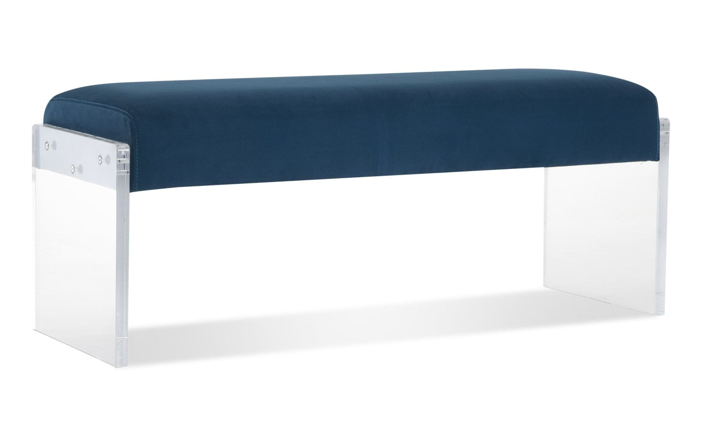 Teal Acrylic Accent Bench