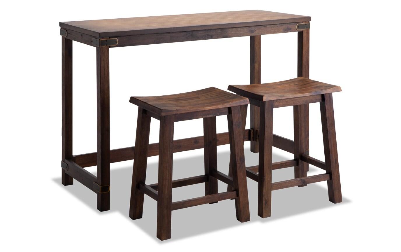 Boulder Table & 2 Stools