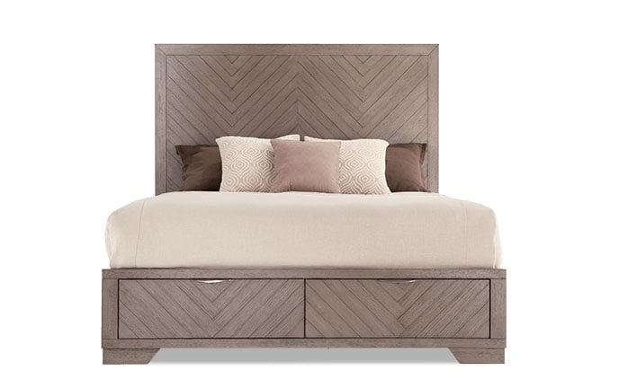 Chevron Storage Bed Gray King