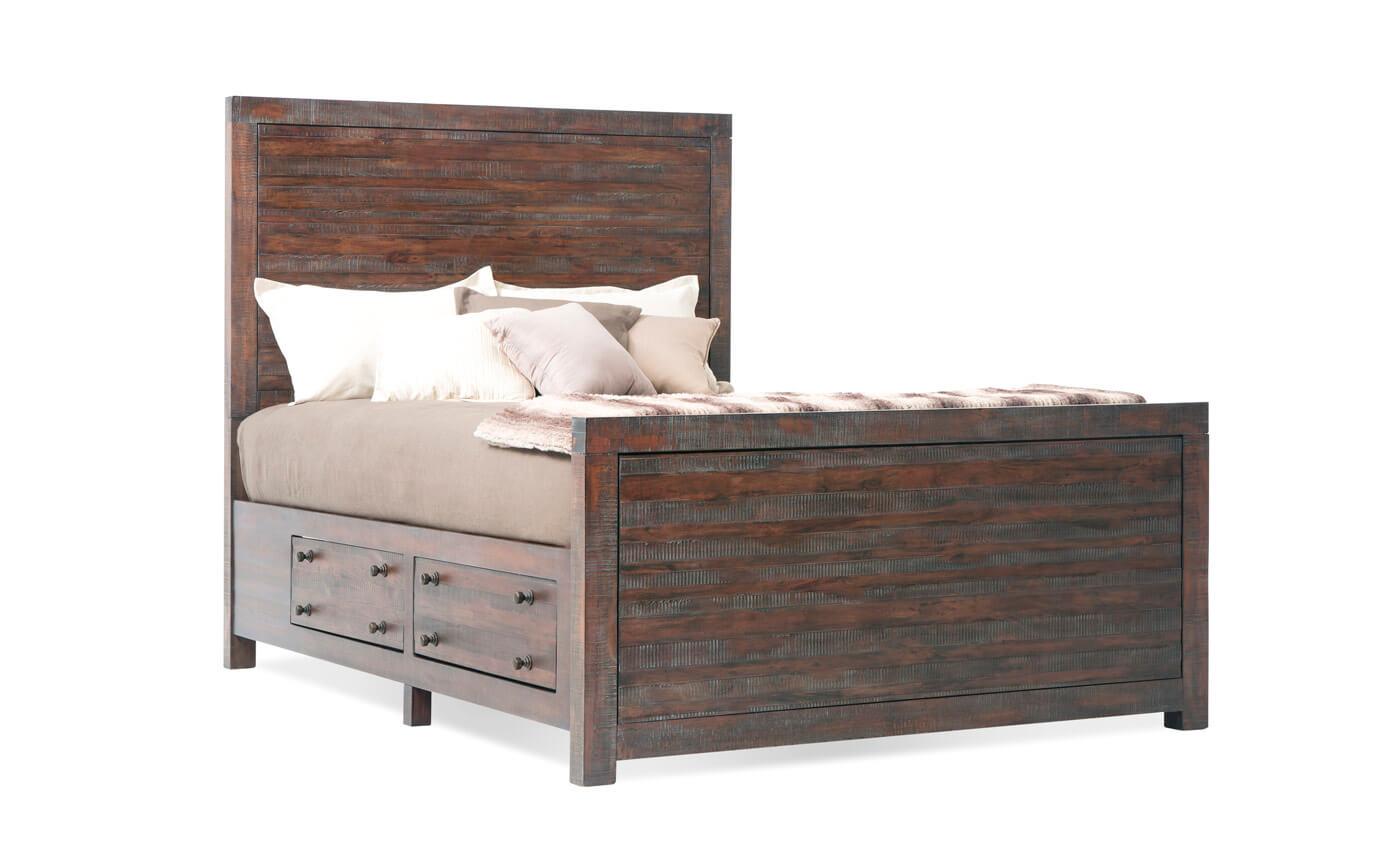 Java Queen Storage Bed