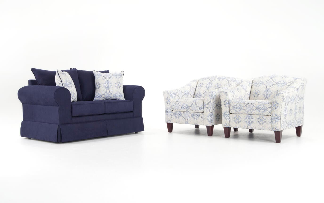 Oasis Loveseat & 2 Accent Chairs