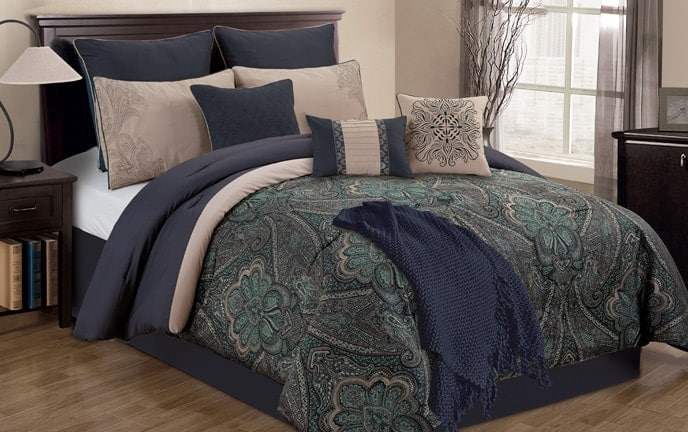 Riley 10 Piece Queen Comforter Set